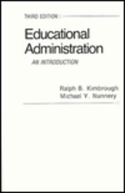 9780023639708: Educational Administration An Introduction