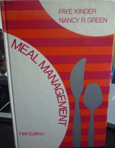 9780023640803: Meal Management