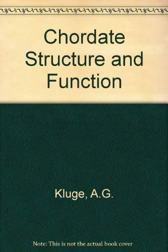 9780023648007: Chordate Structure and Function