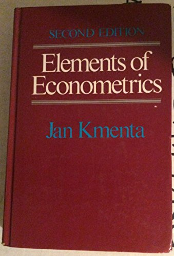 9780023650703: Elements of Econometrics