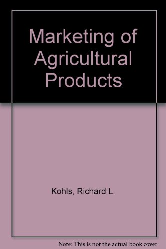 9780023656705: Marketing of Agricultural Products