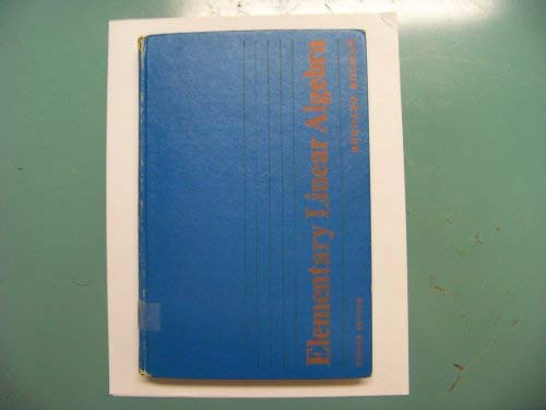 9780023659003: Elementary Linear Algebra