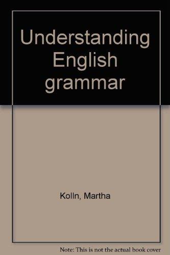 9780023660603: Title: Understanding English grammar