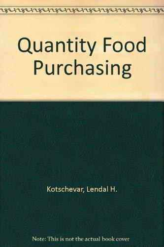 9780023662201: Quantity Food Purchasing
