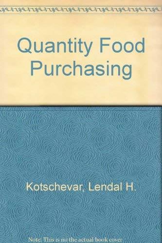 9780023662300: Quantity Food Purchasing