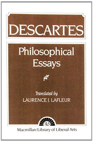 9780023672408: Descartes: Philosophical Essays