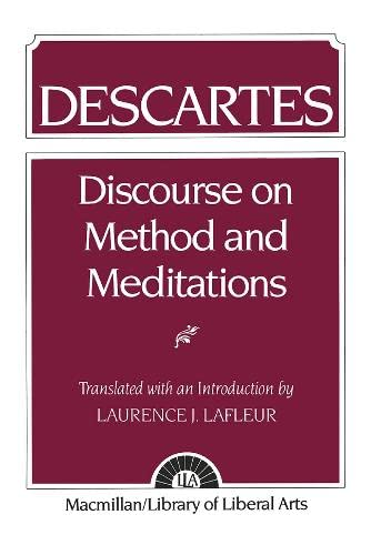 9780023672606: Descartes: Discourse On Method and the Meditations