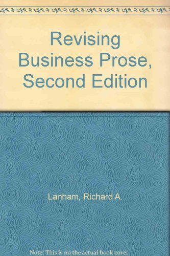 9780023674303: Revising Business Prose, Second Edition