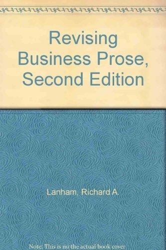 9780023674303: Revising business prose