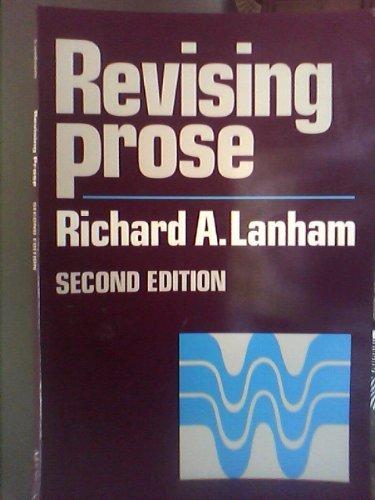 9780023674402: Revising Prose