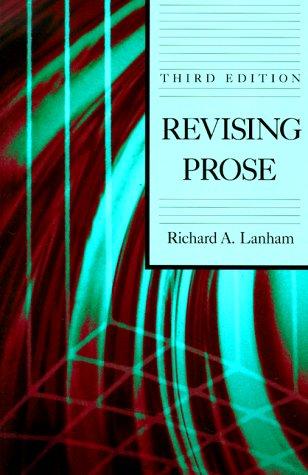 9780023674457: Revising Prose