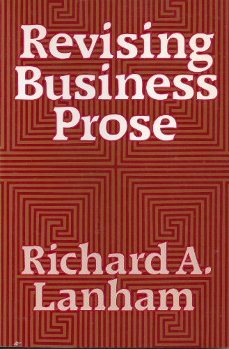 9780023674600: Revising Business Prose