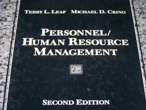 9780023685217: Personnel/Human Resource Management