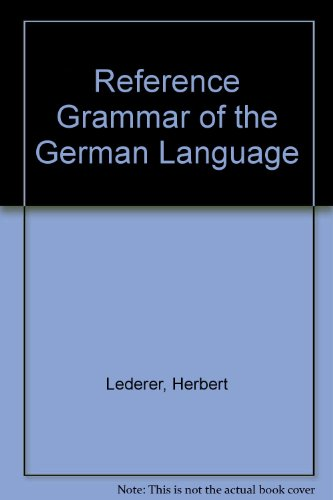 9780023691003: Reference Grammar of the German Language