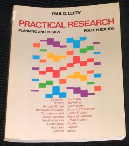 Practical Research Planning And Design By Leedy Paul D Macmillan Usa 9780023692413 Paperback