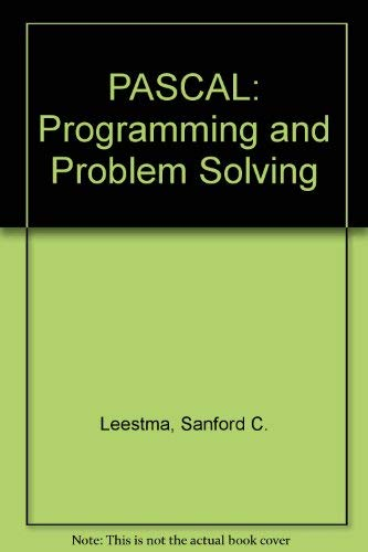 9780023694608: PASCAL: Programming and Problem Solving