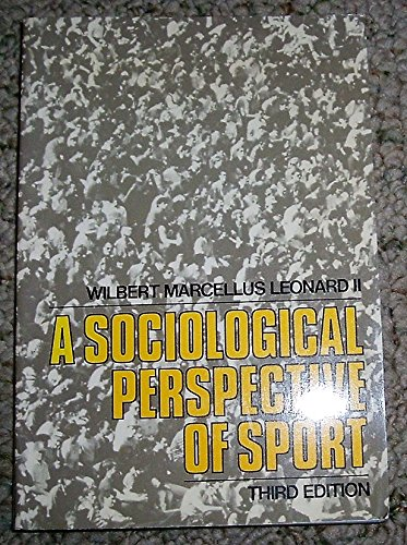 9780023698668: Sociological Perspective of Sport