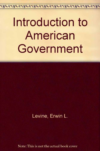 9780023702808: Introduction to American Government