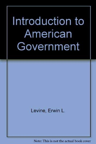 9780023703003: Introduction to American Government