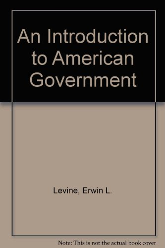 9780023703409: An Introduction to American Government