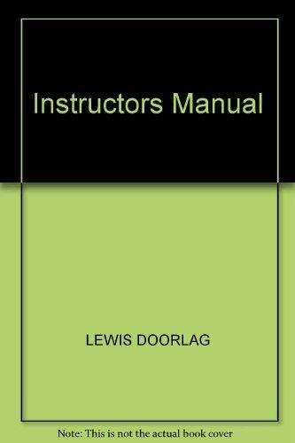 9780023705038: Instructors Manual