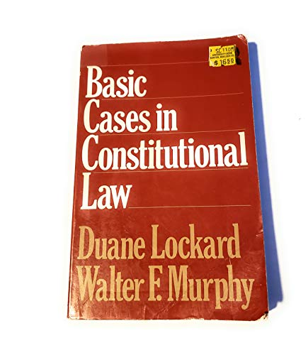 9780023715105: Basic Cases in Constitutional Law