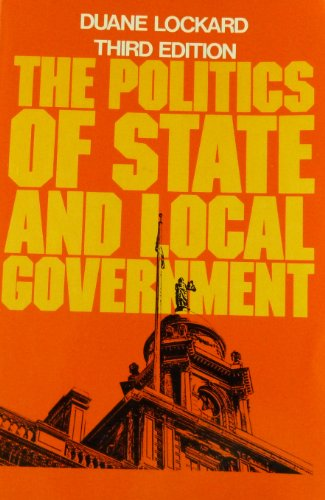 9780023715303: Politics of State and Local Government