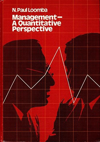 9780023716409: Management: A Quantitative Perspective