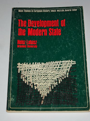 9780023721502: Development of the Modern State (Main Themes in European History)