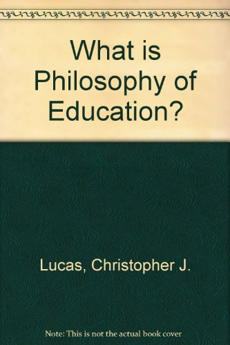 9780023721908: What is Philosophy of Education?
