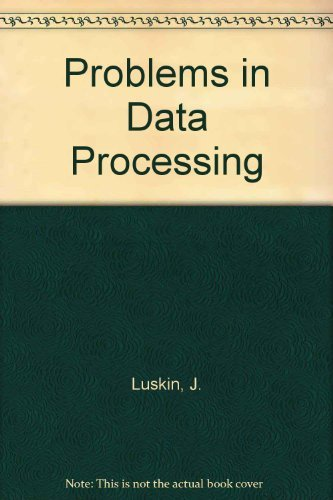 9780023728907: Problems in Data Processing