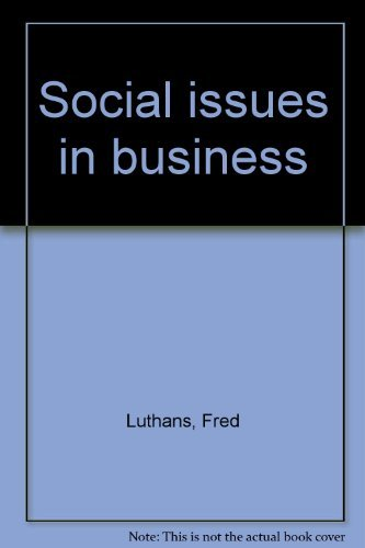 9780023729201: Social issues in business