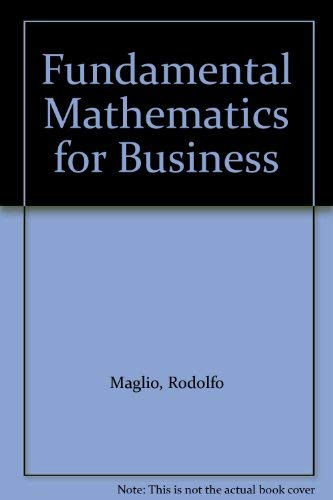 9780023748202: Fundamental Mathematics for Business