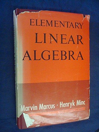 9780023759703: Elementary Linear Algebra