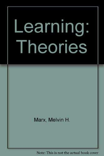 9780023768309: Learning: Theories