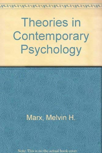9780023768705: Theories in Contemporary Psychology