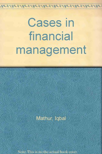 9780023772603: Cases in financial management