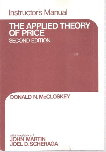 9780023785306: Mccloskey D:Appl Theory Price Ins Man 2e