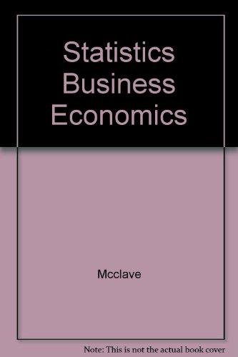 9780023785504: Statistics Business Economics