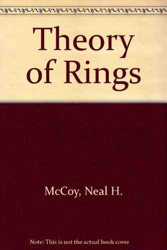 9780023786907: Theory of Rings