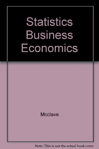 9780023787706: Statistics Business Economics