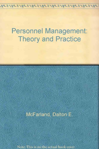 9780023789502: Personnel Management: Theory and Practice