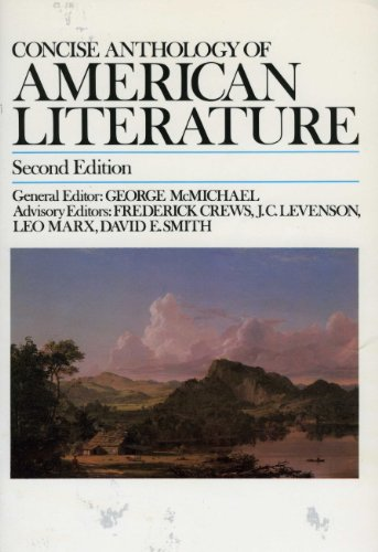 9780023795107: Concise Anthology of American Literature