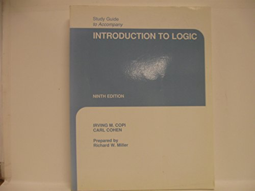 9780023812521: Introduction to Logic: Study Guide (9th Edition)
