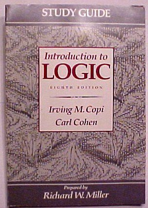9780023813115: Study Guide Introduction to Logic Eighth Edition