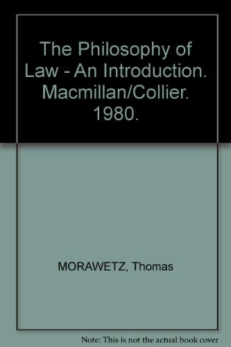 9780023833403: The Philosophy of Law: An Introduction