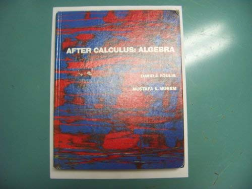 9780023847905: After Calculus--Algebra