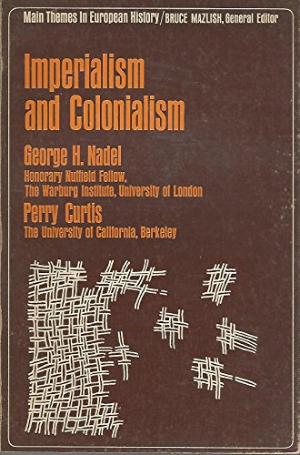 9780023858604: Imperialism and Colonialism