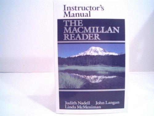 9780023860201: Instructor's Manual The Macmillan Reader