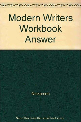 9780023874819: Modern Writers Workbook Answer